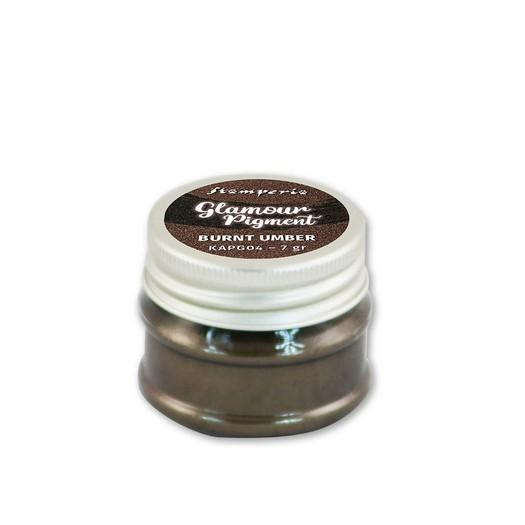 Glamour powder pigment 7gr, Stamperia, Burnt umber