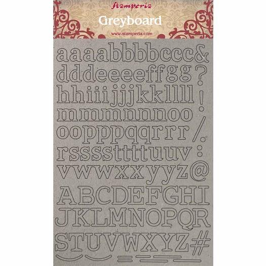 Διακοσμητικά από χαρτόνι Stamperia, 21x29,7cm, Alphabet