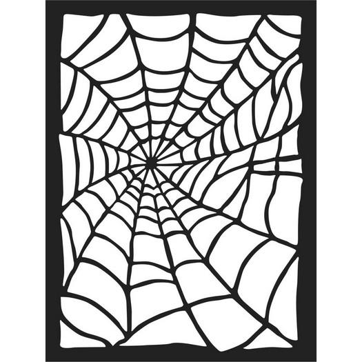Thick Stencil 15x20cm, Stamperia, Spider Web