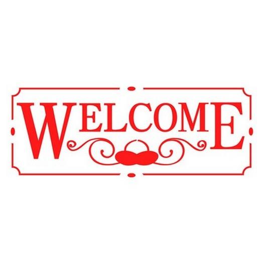 Stencil 38x15cm Welcome, Stamperia