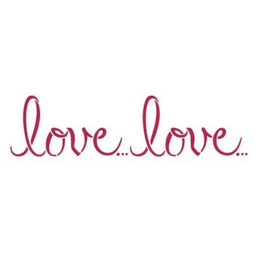 Stencil Love 38x15cm, Stamperia