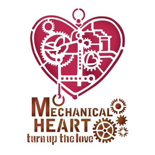 Stencil Mechanical Heart 20x15cm , Stamperia