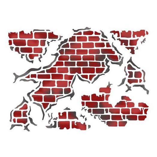 Stencil 20X15cm, Stamperia, Walls