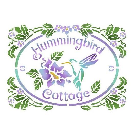 Stencil 20X15cm, Stamperia, Hummingbird Cottage
