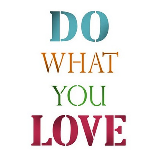 Stencil 21x29,7cm - Do what you love - Stamperia