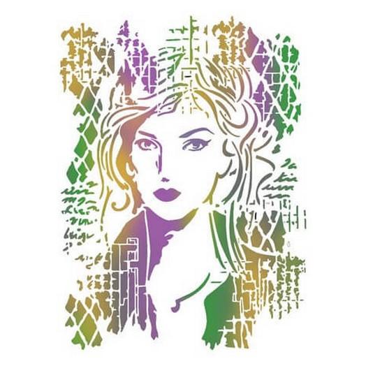 Stencil 21x29,7cm - Woman picture - Stamperia