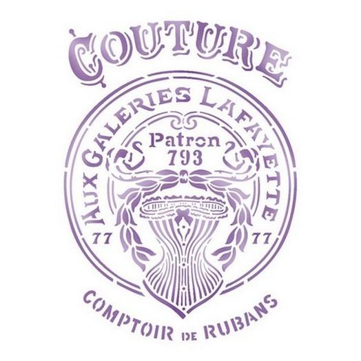 Stencil 21x29,7cm Couture ,Stamperia