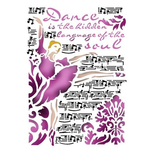 Stencil 21x29,7cm, Stamperia, Dance