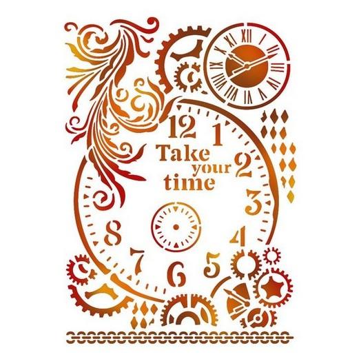Stencil 21x29,7cm, Stamperia, Take your time