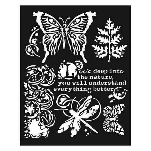 Thick Stencil 20x25cm/0,5 Batterflies & Dragonflies , Stamperia