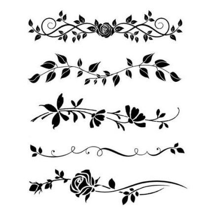 Thick Stencil 20x25cm, Stamperia, Bordure rose