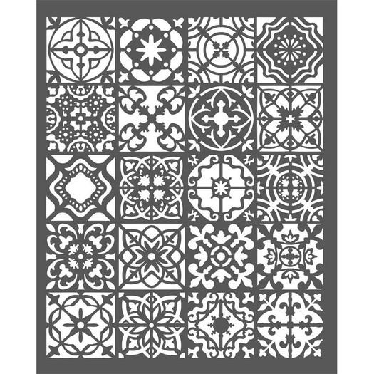 Thick Stencil 20x25cm, Stamperia, Azulejos, Mini Tiles