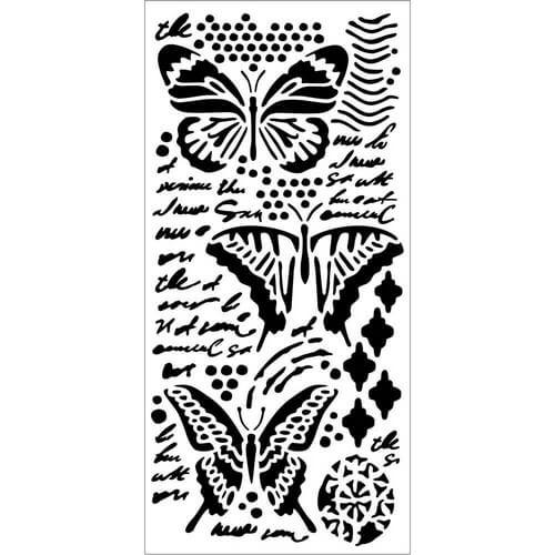 Thick Stencil 12x25cm, Stamperia, Butterflies