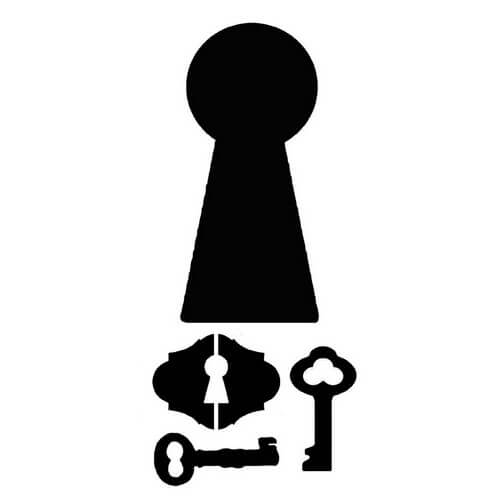 Thick Stencil 12x25cm, Stamperia, Locks and keys