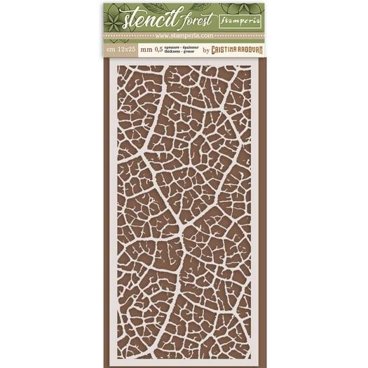 Thick Stencil 12x25cm, Stamperia, Forest leaf