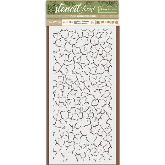 Thick Stencil 12x25cm, Stamperia, Forest Cracklé