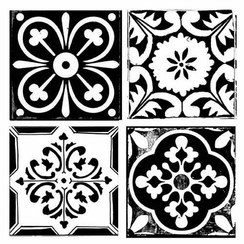 Thick Stencil 18x18cm, Stamperia, Tile