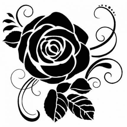 Thick Stencil 18x18cm, Stamperia, Rose