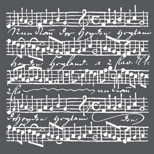 Thick Stencil 18x18cm, Music Scores