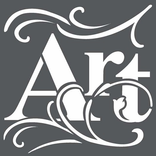 Thick Stencil 18x18cm, Art