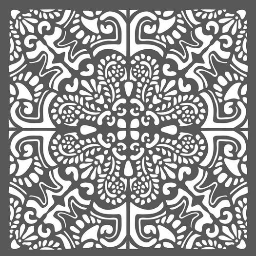 Thick Stencil 18x18cm, Azulejos tiles 2