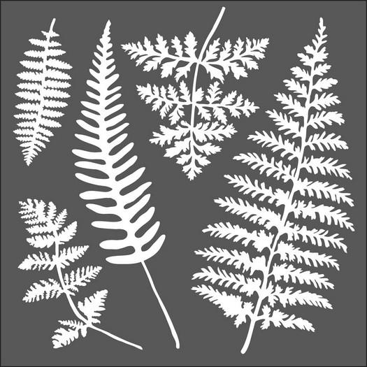 Thick Stencil 18x18cm, Leaves
