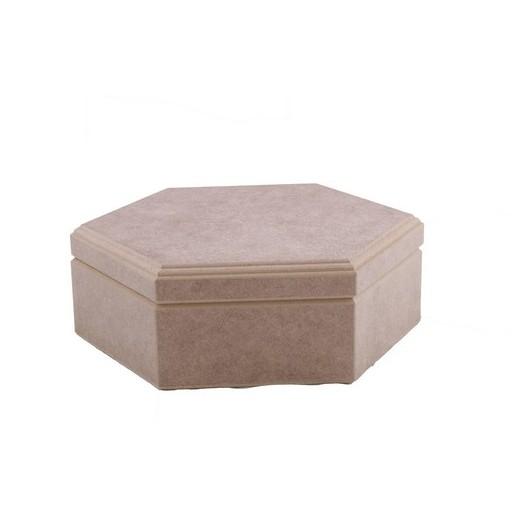 Κουτί εξάγωνο MDF 24x24x8cm