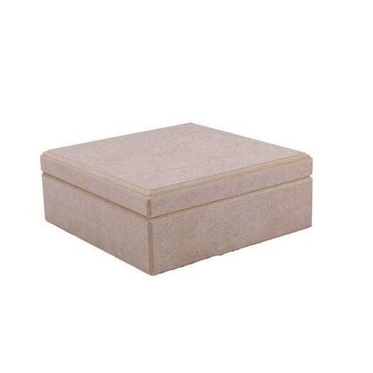 Κουτί τετράγωνο MDF 20x20x8cm