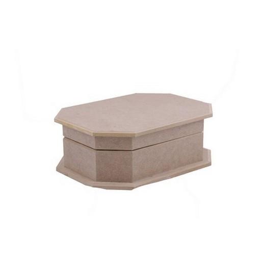 Κουτί Mdf οκτάγωνο Large 23x17x7.5cm