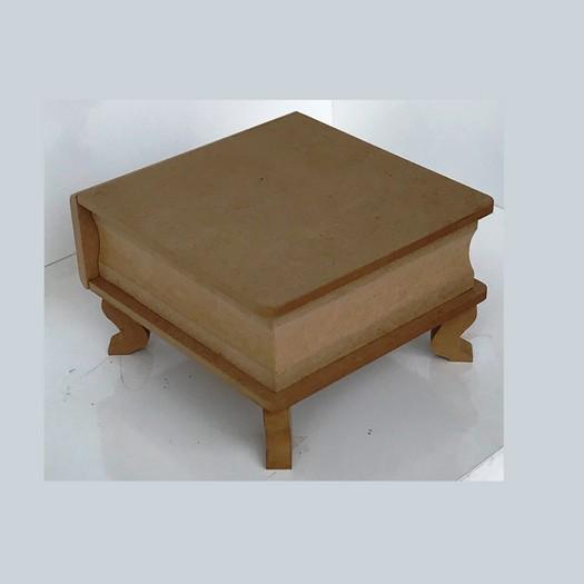 Κουτί με ποδαράκια MDF, 22x22xY24cm