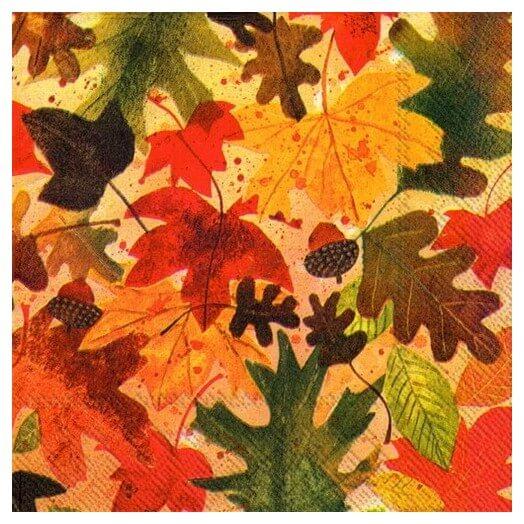 Χαρτοπετσέτα για decoupage, Autumn leaves
