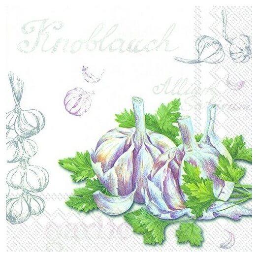 Χαρτοπετσέτα για Decoupage, Garlic,  1τεμ.