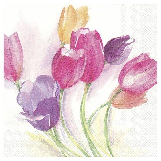 Χαρτοπετσέτα για Decoupage, Tulip Season, 1τεμ.