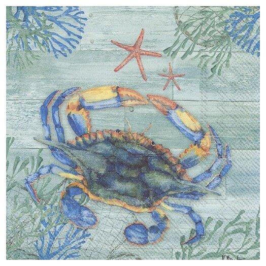 Χαρτοπετσέτα για Decoupage, Clearwater, crub and starfish,  1τεμ.
