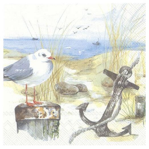 Χαρτοπετσέτα για Decoupage,  Seagulls, 1τεμ.