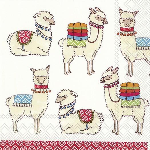 Χαρτοπετσέτα για decoupage, Happy Lamas, 1 τεμ.