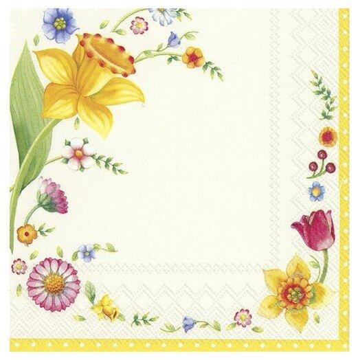 Χαρτοπετσέτα για Decoupage,  Spring Fantasy flowers, 1τεμ.