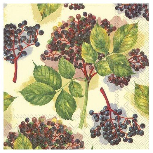 Χαρτοπετσέτα για decoupage, Elderberry cream