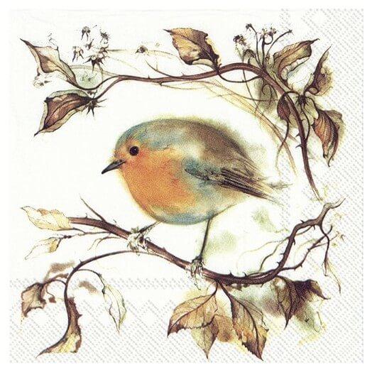 Χαρτοπετσέτα για decoupage, Red robin