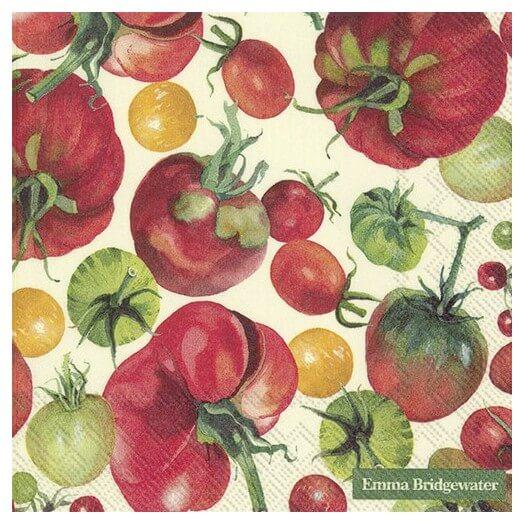 Χαρτοπετσέτα για Decoupage,  Tomatoes, 1τεμ.