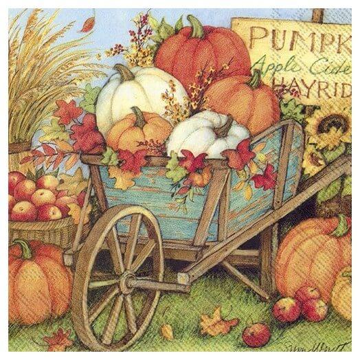 Χαρτοπετσέτα για decoupage,  Pumpkin crop