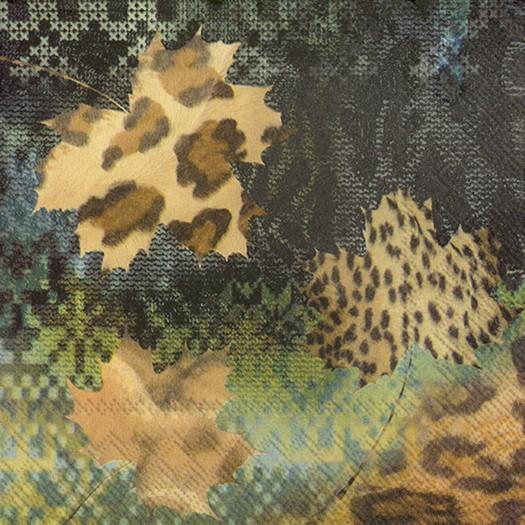Χαρτοπετσέτα για decoupage, Fashion leaves, 1 τεμ.