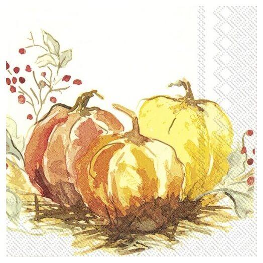 Χαρτοπετσέτα για decoupage,  Painted pumpkin