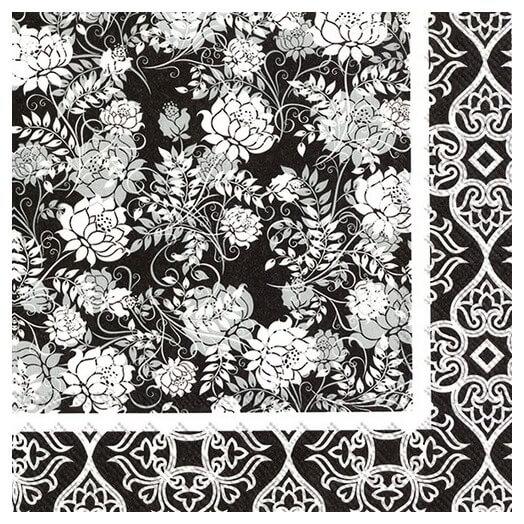 Χαρτοπετσέτα για decoupage,  Classic garden black