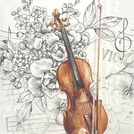 Χαρτοπετσέτα για decoupage, Bella Musica, 1 τεμ.