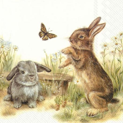 Χαρτοπετσέτα για decoupage, Bunny & Clyde, 1 τεμ.