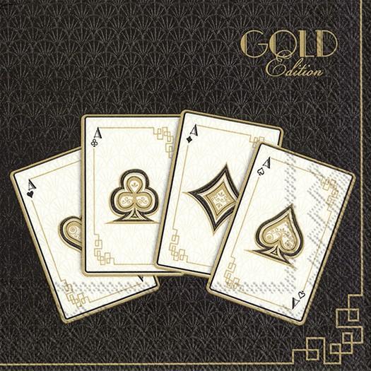 Χαρτοπετσέτα για decoupage, Gold Edition, 1 τεμ.