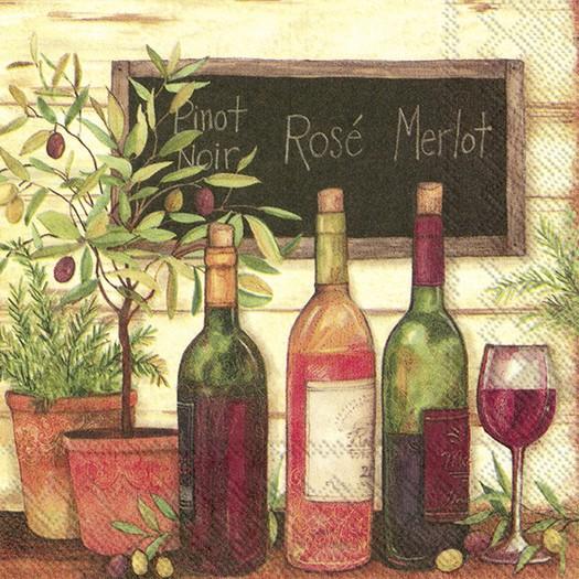 Χαρτοπετσέτα για decoupage, Wine & Olives, 1 τεμ.