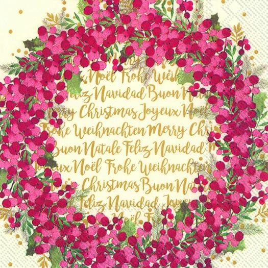 Χαρτοπετσέτα για decoupage, Cynthia wreath, 1 τεμ.
