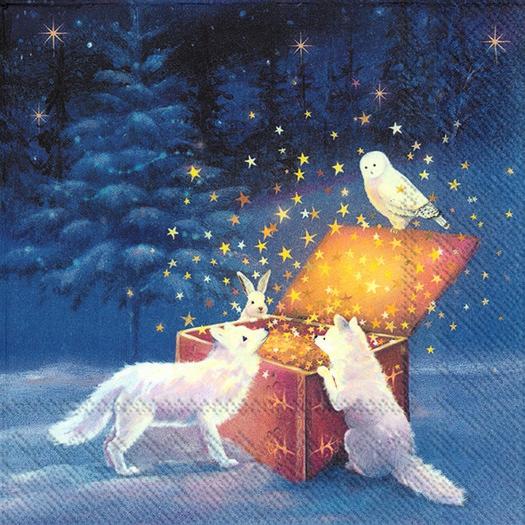 Χαρτοπετσέτα για decoupage, Magical winter scene, 1 τεμ.